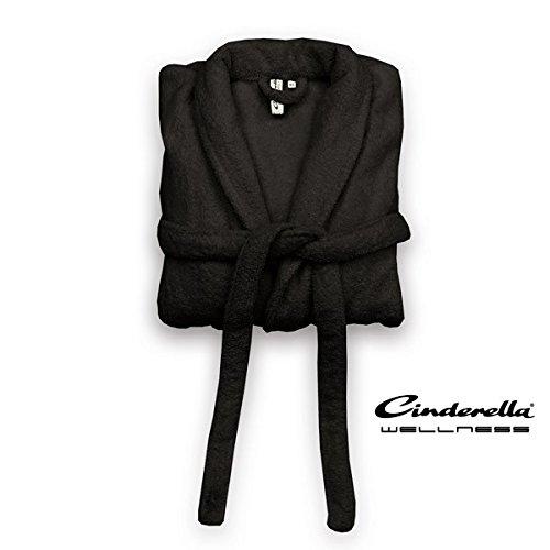 Cinderella Wellness Bademantel Relax Schwarz - XL 100% Baumwolle