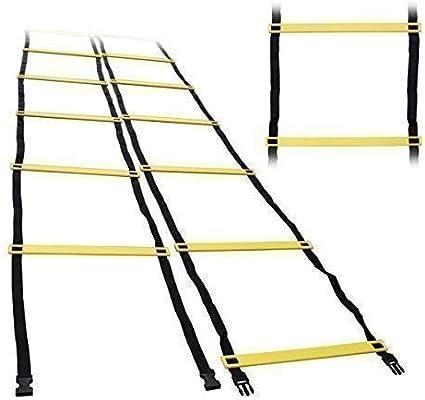 Dershogun Escalera de Entrenamiento 6m Guía de Coordinación con 14 Peldaños Incl. Bolsa: Amazon.es: Deportes y aire libre