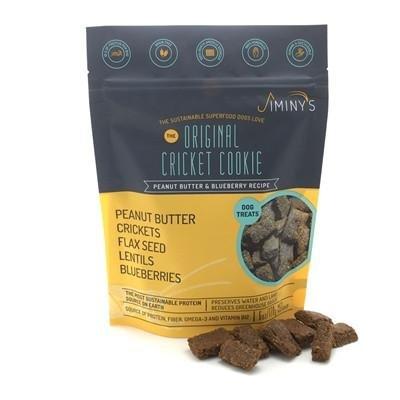 Jiminys Original Cricket Dog Treat - 6oz bag- Limited Ingredients- Blueberry Flavor Free Dog Treat Samples