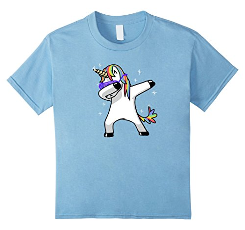 Kids Dabbing Unicorn Shirt Dab Hip Hop Funny Magic 6 Baby Blue (Gay Bunny Costume)