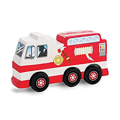Melissa & Doug Created by Me! Rescue Vehicles Wooden Craft Kit - The Original (Decorate a Police Car, Fire Truck, Helicopter, Great Gift for Girls and Boys – Best for 4, 5, 6, 7 and 8 Year Olds): Melissa & Doug: Toys & Games