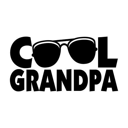 Cool Grandpa Sunglasses Vinyl Decal Sticker | Cars Trucks Vans SUVs Windows Walls Cups Laptops | Black | 5.5 Inch | ()
