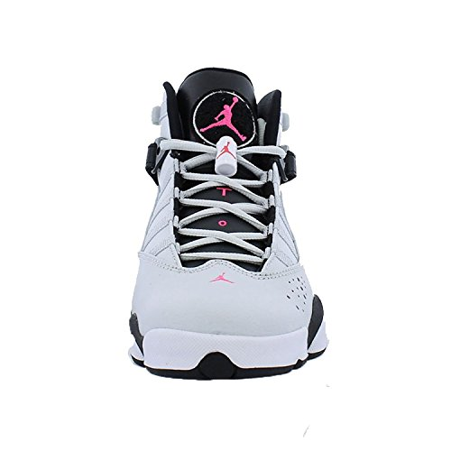 Jordan 6 RINGS GG Zapatillas de baloncesto para ni?os 323399-009_9.5Y - Pure Platinum / Hyper Pink-black