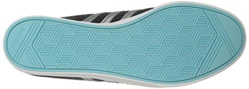 Adidas Neo Womens Courtset W Fashion Sneaker Nero / Argento Metallizzato / Blu