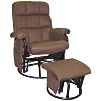 ROCKER RECLINER WITH OTTOMAN Sturdy tubular frame