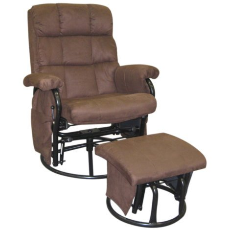 ROCKER RECLINER WITH OTTOMAN Sturdy tubular frame (Rocker Swivel Chair Ottoman With)