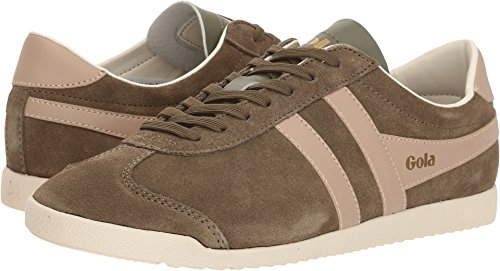 Gola Women's Bullet Suede Khaki/Blush Pink Trainers, Green (Khaki/Blush Pink Nk), 7 UK 40 ()
