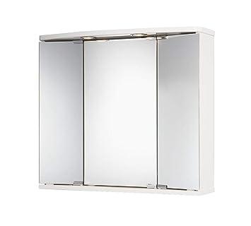 Jokey Spiegelschrank mit Beleuchtung Funa LED weiß Badmöbel Hängeschrank
