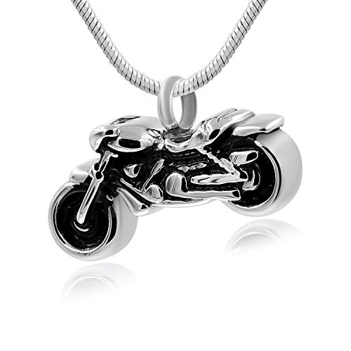 Hufan Motorcyle Cremation Jewelry for Ashes with Funnel and Chain by Hufan
