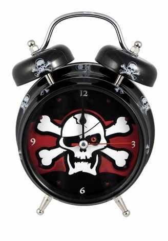 Pirate Skull and Crossbones Alarm - Clock Pirates Metal