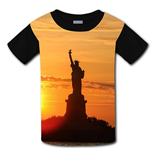 CODOIT Statue Of Liberty Short Sleeve Crew Neck T-Shirt For - Espanol Ban En