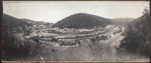 Mauch Chunk Pennsylvania - HistoricalFindings Photo: 1896 Panoramic: Mauch Chunk,The Lehigh Valley,Jim Thorpe,Pennsylvania 18229