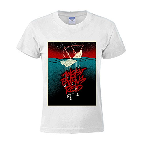 Timico DIY August Burns Red Wallpaper Women O Neck T Shirts - Dress Duke Casual Buckle
