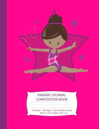 Search : Primary Journal Composition Book: African American Gymnast with Brown Hair - Hot Pink w/ Purple Stars - Grades K-2 Draw and Write Notebook, Story ... Handwriting Journal (Little Gymnast Series)