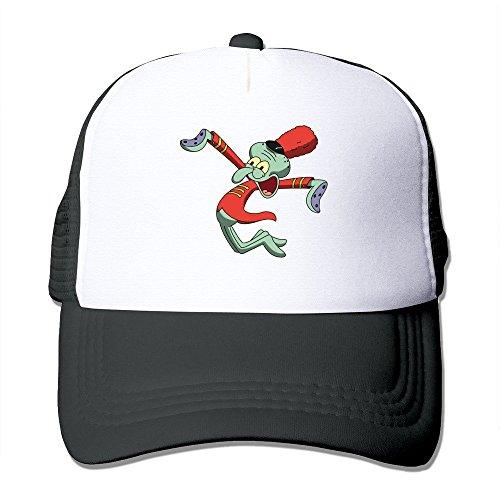 Spongebob Krusty Krab Hat (Cool Sponge Bob Squarepants Squidward Tentacles Trucker Mesh Baseball Cap Hat Black)