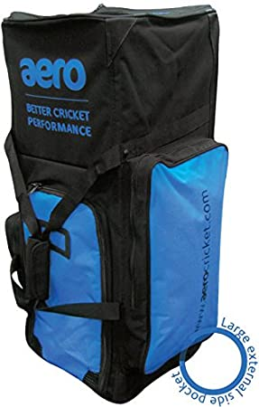 95e46bd918 Aero Stand Up Cricket Bag - Black Blue  Amazon.co.uk  Sports   Outdoors