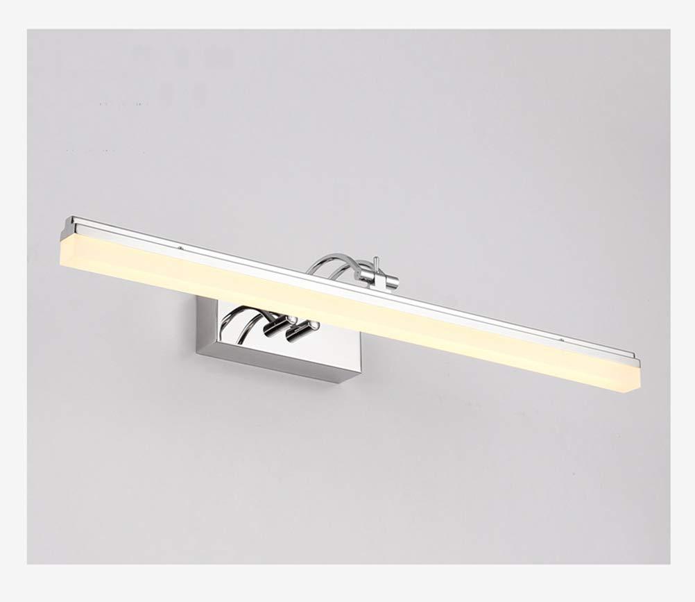 Einfache moderne led spiegel scheinwerfer, bad wc schminktisch make-up lampe wasserdicht anti-fog spiegel kabinett licht (Farbe   Warmes Licht-59cm)