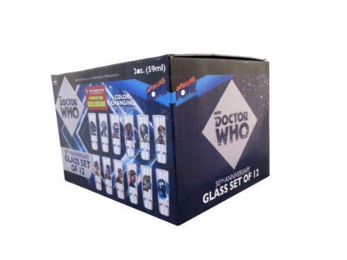 Doctor Who Set of 12 – 2oz. Glasses
