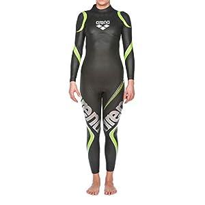 Arena Women's Triathlon Wetsuit Full Sleeve Neoprene Carbon Fiber-Lined Panels Buoyancy for Open Water Swimming, Ironman…