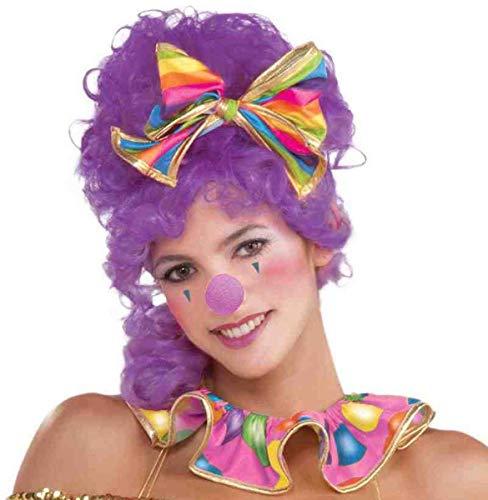 Forum Novelties Purple Clown Sponge Nose Circus Sweetie Violet Lavender Costume Accessory Prop, One Size