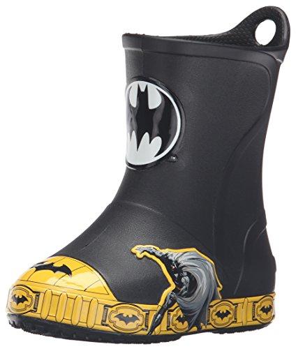 [crocs Bump It Batman Rain Boot (Toddler/Little Kid), Black, 13 M US Little Kid] (Boys Boots Sale)