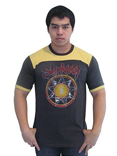 Bunny Brand Men's Slipknot Subliminal Verses Tour Ringer T-Shirt Jersey (Medium) -