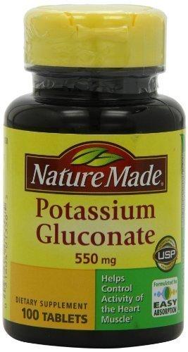 Potassium Gluconate 550 Mg Tablets - Nature Made Potassium Gluconate 550mg, 100 Count Pack of 2