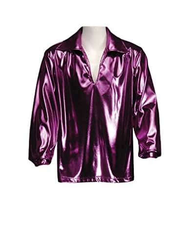 70s Costumes: Disco Costumes, Hippie Outfits Mens Disco Shirt Theatrical Quality Fuchsia $79.99 AT vintagedancer.com