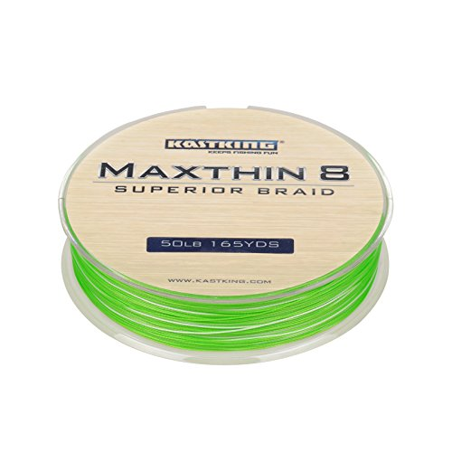 KastKing Maxthin8 Braid Fishing Line – 30% Thinner than Competitor Brands- 165Yds/150M Super Strong 8 Strands Premium Braided Line -ICAST Award Winning Brand