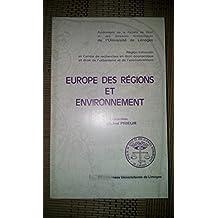 Europe des régions et environnement