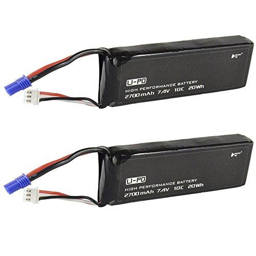 Original 2PCS Hubsan X4 FPV H501S Pro H501A H501C Lipo Battery 7.4V 2700mAh 10C Quadcopter Spare Accessories