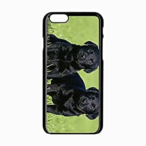 iPhone 6 Black Hardshell Case 4.7inch dogs grass Desin Images Protector Back Cover