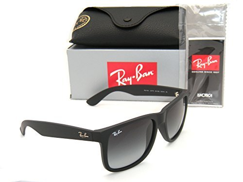 Ray-Ban Justin RB 4165 601/8G 55mm Rubber Black with Grey Gradient - Youngster Sunglasses Ray Ban