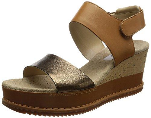 CLARKS Clarks Womens Shoe Akilah Haze Tan Combi 4.5