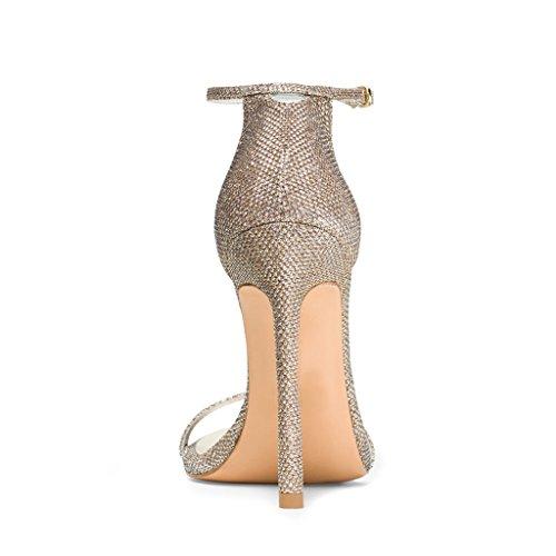 Fsj Sandali Con Cinturino Alla Caviglia Da Donna Open Toe Scarpe Con Tacco Alto Per Donna Da Ufficio Taglia 4-15 Us Biancheria