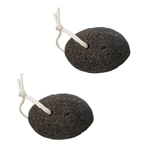 TOOGOO(R) 2x Volcanic Lava Pumice Stone Foot Massage Scrub Exfoliate Pedicure Grinding New