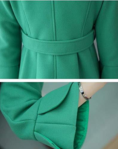 Laine D'hiver Veste Mode Automne Hiver Coupe Manteau Femme Chaud vent Nzdy Vent En Coton Vert Dames Long De Et y4pIWXq