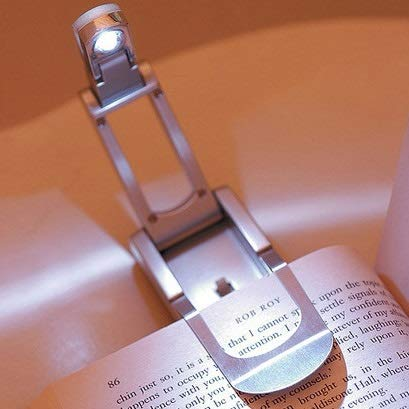 YOUHUI Night Lights Night Lights Bright White Light LED Clip Reading Book Light, Torch Robotic ()