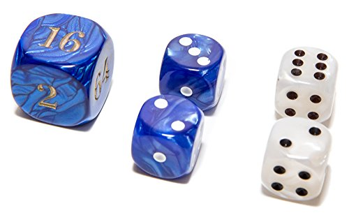 (Bello Games Deluxe Marbleized Dice Sets 5/8