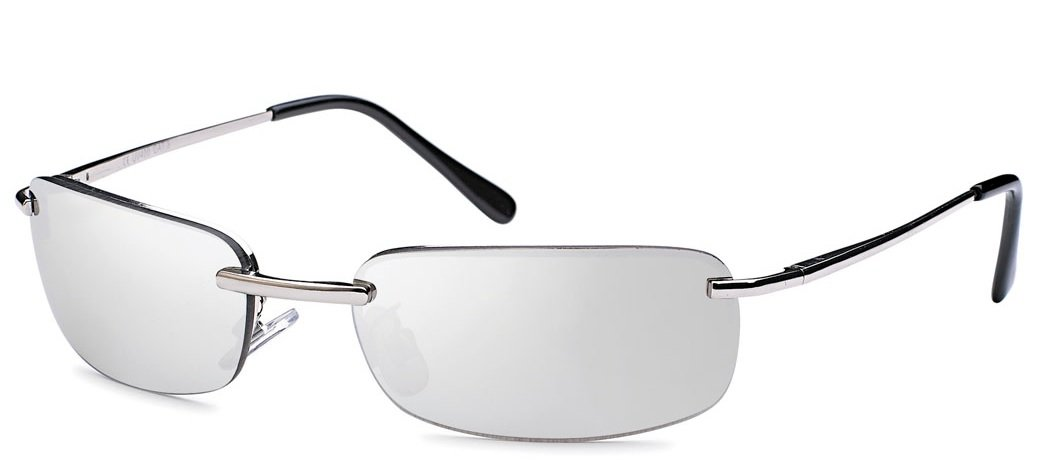 2x Sonnenbrille rechteckig Herren Gangster Sonne Sonnen Brille verspiegelt Gläser Federscharnier Strand Urlaub sb05 (silber/blau) ONWkUz2l6J