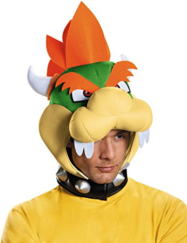 Disguise Men's Bowser Headpiece Costume Accessory - Adult,