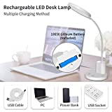 Rechargeable Desk Lamp, LED USB Dimmable Study