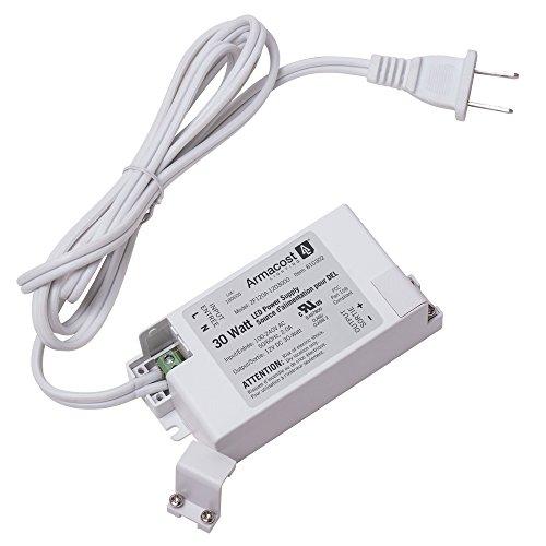Armacost Lighting 810300 30W 12V 30-Watt Standard 12-Volt DC LED Power Supply, White