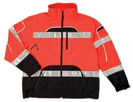 Fits Large and Extra Large Orange RWJ107  L-XL ML Kishigo RWJ107 Brilliant Series High-Viz Rainwear Jacket
