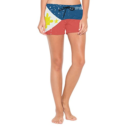 super3Dprinted Distressed Philippines Flag Womens Swimming Trunks Beach Board ()