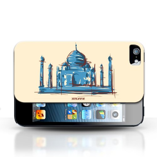 iCHOOSE Print Motif Coque de protection Case / Plastique manchon de telephone Coque pour Apple iPhone 5/5S / Collection Monuments / Taj Mahal/Indie