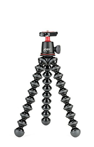 JOBY GorillaPod 3K Kit. Compact Tripod 3K Stand and Ballhead 3K for Compact Mirrorless Cameras or Devices up to 3K (6.6lbs). Black/Charcoal. from Joby
