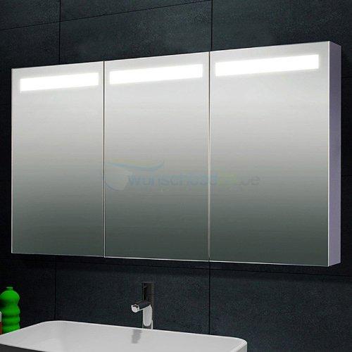 René Bugil Design-Spiegelschrank Aluminium mit Beleuchtung XXL - 150x70cm