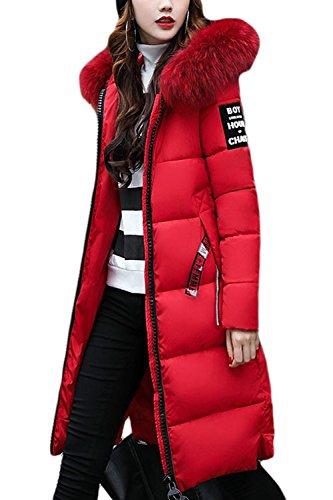 Outercoats Long Femmes Les Des Zilcremo Fourrure Parkas L'hiver Red De Vêtements Polaire Fausse À PH8qw85