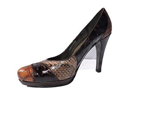 Stuart Weitzman Womens Melange Snakeskin, Croc Heels Pumps Size 5 M